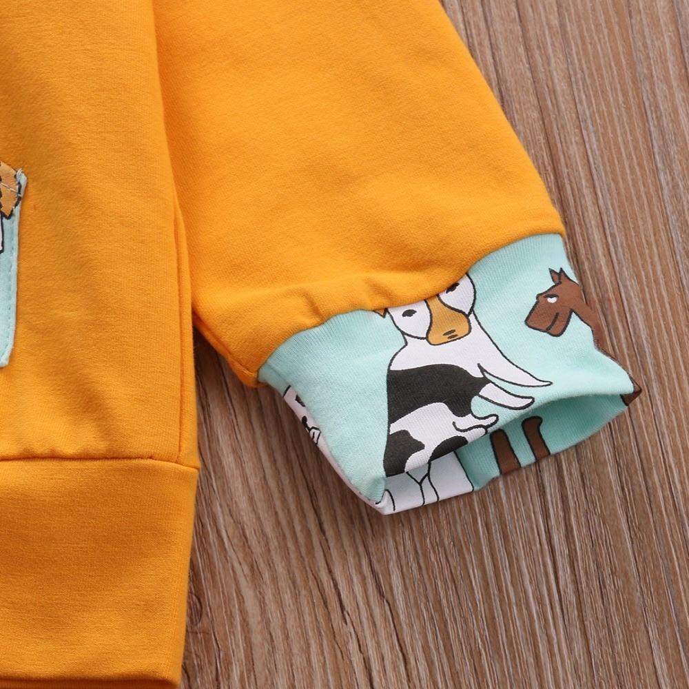 Odzież dziecięca dla dzieci Nowa bluza z kapturem Solidne bluzy z - Odzież dla niemowląt - Zdjęcie 6