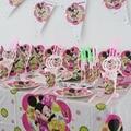 104 unids vasos de papel desechables placas minnie mouse niñas niños tema Fiesta de cumpleaños del bebé Decoración fuentes del partido Fijado para 8 personas