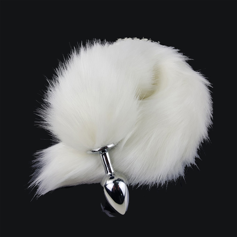 Long White Fox Anal Tail,Sex Anal Plug Products For Women -7243