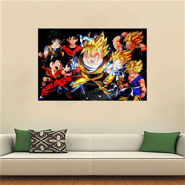 G0903 Anime Dragon Ball Z Affiche Artiste Toile Peinture Mur Soie Affiche  Du0027impression De