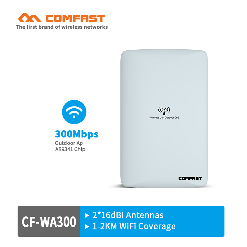 COMFAST CF-WA300 CPE WIFI Router Wireless Outdoor AP Router WIFI Repeater WIFI Extender Access Point AP Bridge Client Router comfast 300mbps outdoor cpe 2 4g wi fi ethernet access point cf e314n wifi bridge 1 3km extender cpe router with poe wifi router