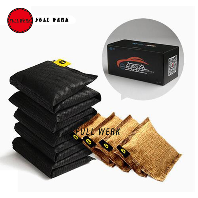 14pcs/Set Bamboo Charcoal Bag Activated Carbon Bag Car Air Cleaner Freshener Car-styling