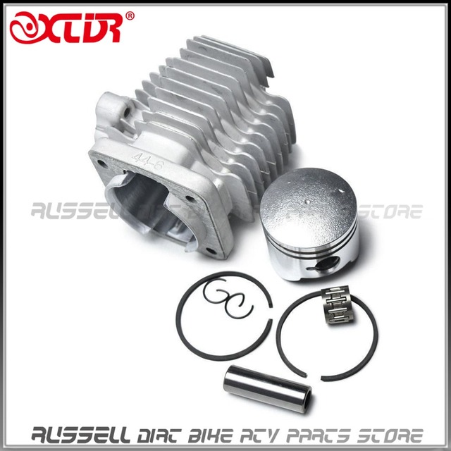 49cc 2 Stroke Embly Gas Engine 44mm Cylinder Head With Piston Kits For Motorized Bicycle Motor Mini Quad Bike Scooter Atv