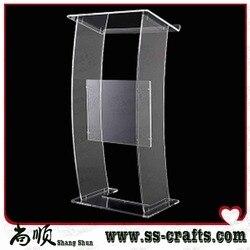 Nowy projekt biurko recepcyjne stół do duża przestrzeń biuro Multimedia nauczania akrylowe mównica podium zapraszamy recepcji