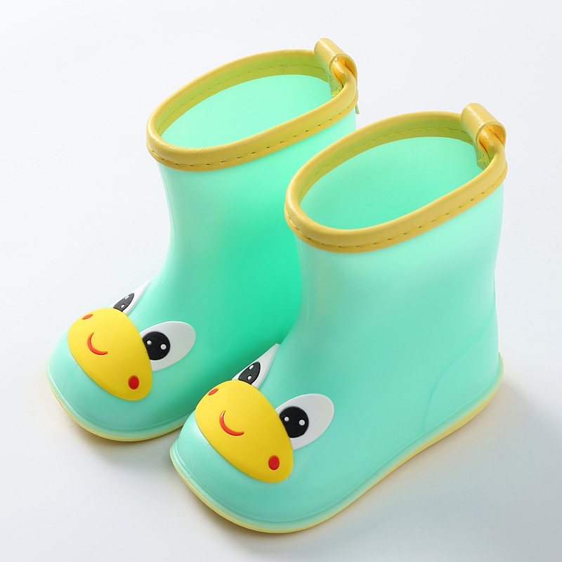 2019 Rain Boots Kids For Boy Girls Rain Boots PVC Water Shoes Children Cartoon Shoes Waterproof Rainboots Four Seasons Removable