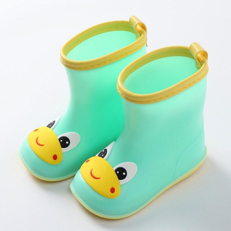 Waterproof Toddler Baby Rain Boots Kids Boy Girls Cartoon PVC Rubber Rain Shoes