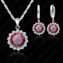 JEXXI Wholesale Price Wedding Jewelry Set 925 Pure Silver Cubic Zircon Necklace Pendant/Earrings Fashionable Women Set