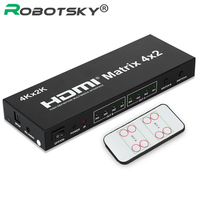 4K 2K HD 3D 1080P HDMI Matrix 4x2 4 In 2 Out HDMI1 4 Switcher Splitter