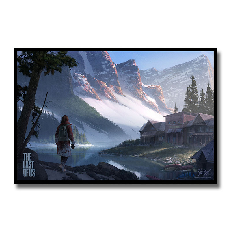 The Last Of Us 2 Game Silk Poster Wall Ar Print Painting 12x18 24x36 Inch Decoration Pictures Wallpaper Living Room Decor 001