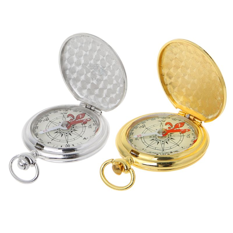 Pocket Watch Flip Compass Portable Hiking Navigation Compass Luminous In The Dark Navigation Car Compass Keychain