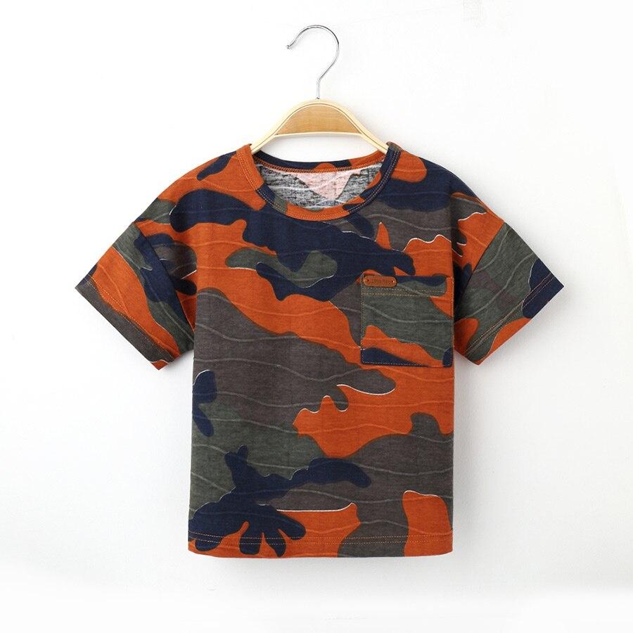 2017 ljeto majica za dječake tops dječja odjeća kamuflaža Camo - Dječja odjeća - Foto 3