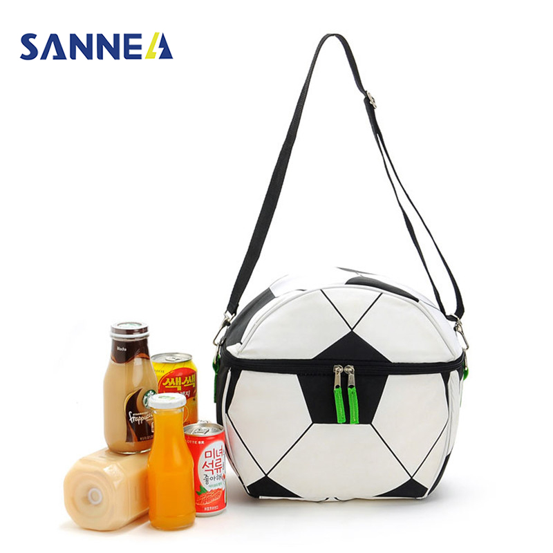 SANNE 10L Soccer Lunch Bag for Kids Portable Insulated Box Football Thermal box 600D Oxford Food Picnic Bag Cooler
