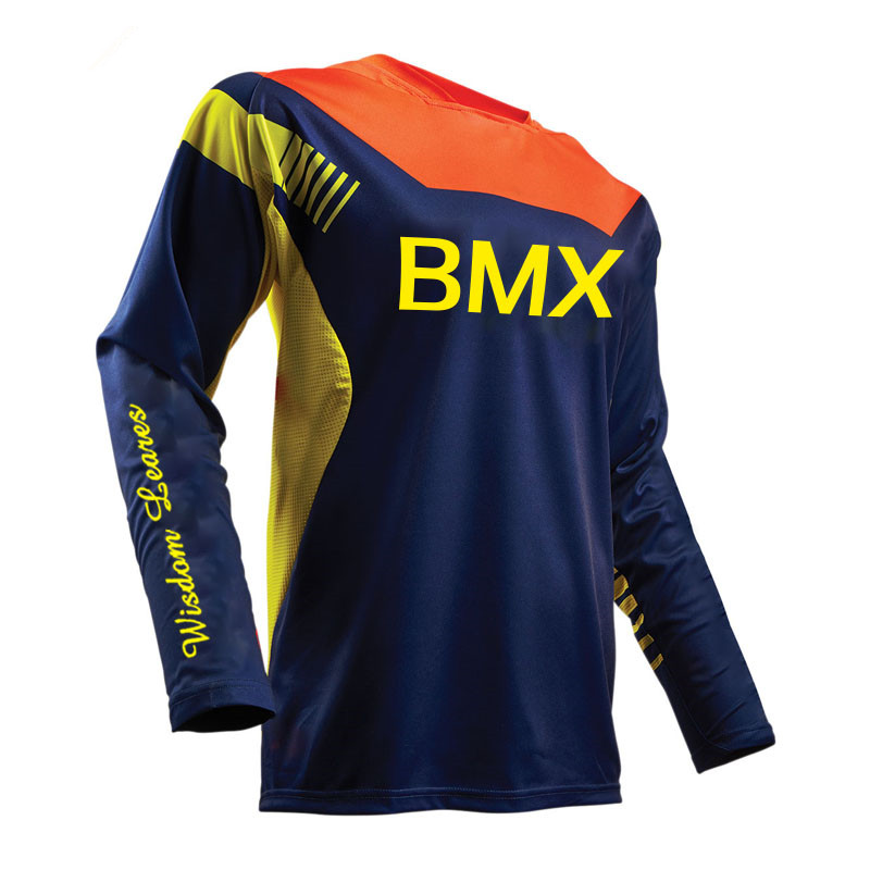 2017 Mountain Bike Motocross Element Burnout Jersey Long Sleeve Downhill Riding Mountain DH FR Jersey Maillot Ciclismo Jersey