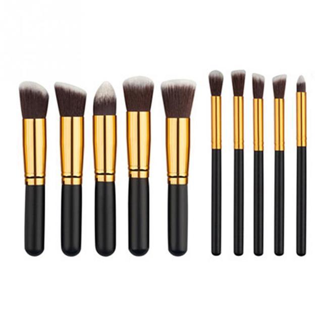 10 pcs = 1 conjunto Ferramentas de Novos Pincéis de Maquiagem Profissional Conjunto de Pincel de Maquiagem Ferramentas Kits Para Paleta Da Sombra de Olho Cosméticos escovas