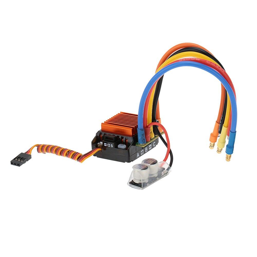 SkyRC 13,5 T 2590KV 2 P Sensored sin escobillas de Motor + CS60 60A Sensored sin escobillas ESC + tarjeta de programa del LED Combo fijado para 1/10, 1/12 coche RC-in Partes y accesorios from Juguetes y pasatiempos    1