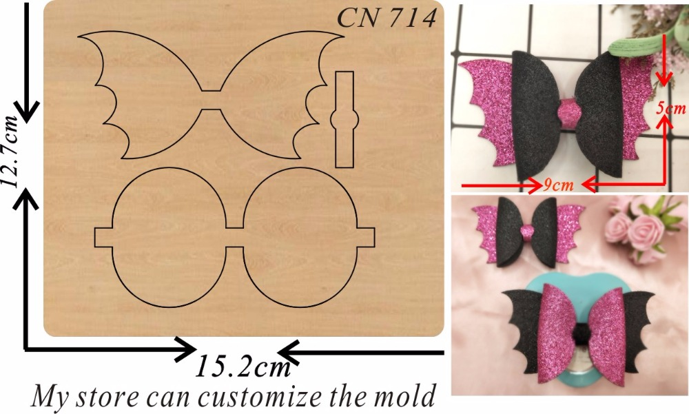 Flying bow new wooden mould cutting dies for scrapbooking Thickness 15 8mm