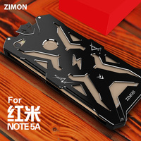 Zimon Mobile Phone Case For Xiaomi Redmi Note 5A Cover Metal Telephone Accessory Protector Armor For