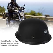 Casco de moto NewHalf, casco de moto alemán, negro mate, estilo alemán, casco de motocicleta Vintage, cómodo, duradero, gran oferta
