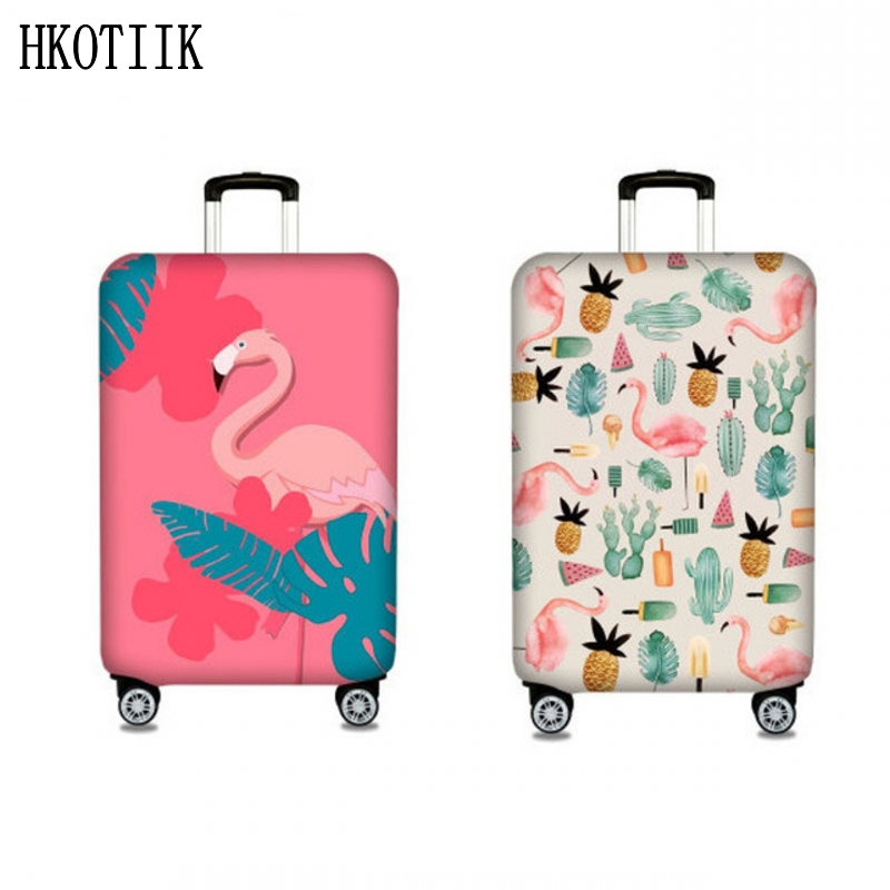 Flamingo Pattern Fashion Suitcase Case Trolley Case Dust Cover Travel Accessories Fit 18-32 Size Luggage Protection Cover стоимость