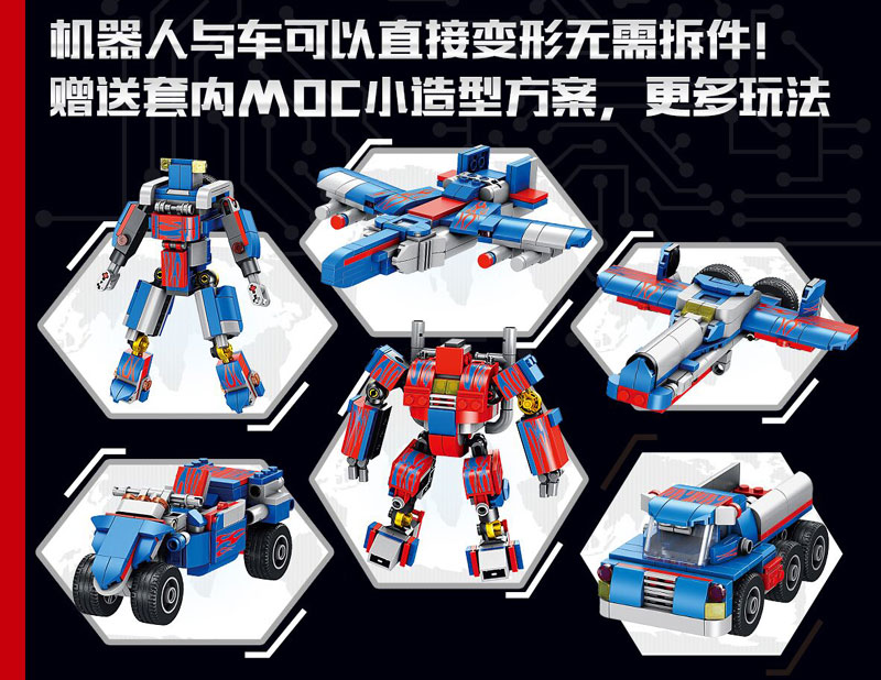 621018 Transformation technique 384 pièces 2in1 Optimus transformer premier Robot voiture gros camion blocs modèles bébé jouets - 4