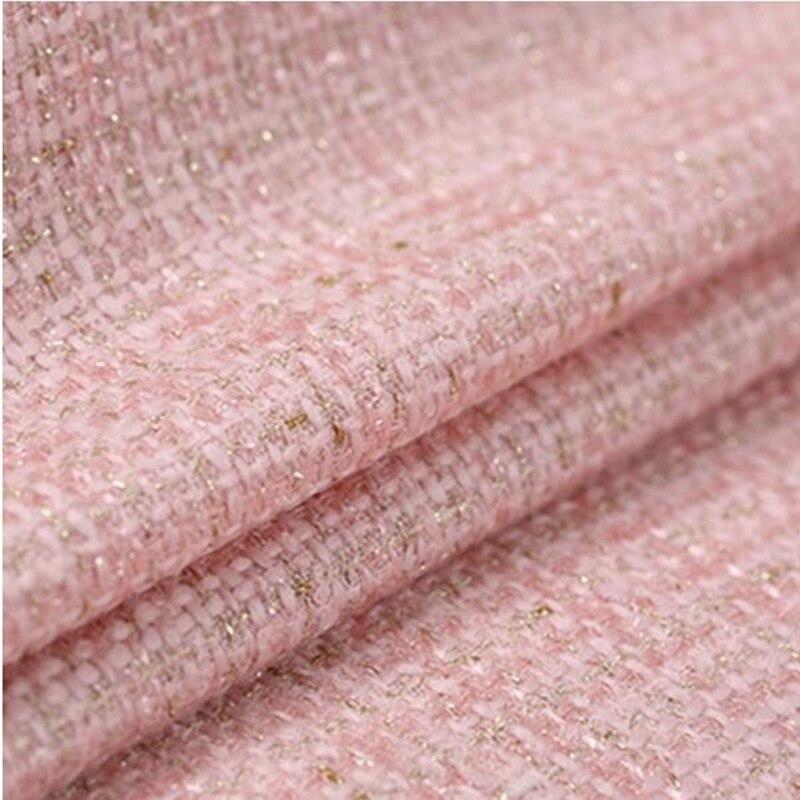 Vlněná tkaná tvídová tkanina pro šití na jaře Evropská americká anti-pilling twistová vůně z bavlněné tkaniny Nové látky 6 barev