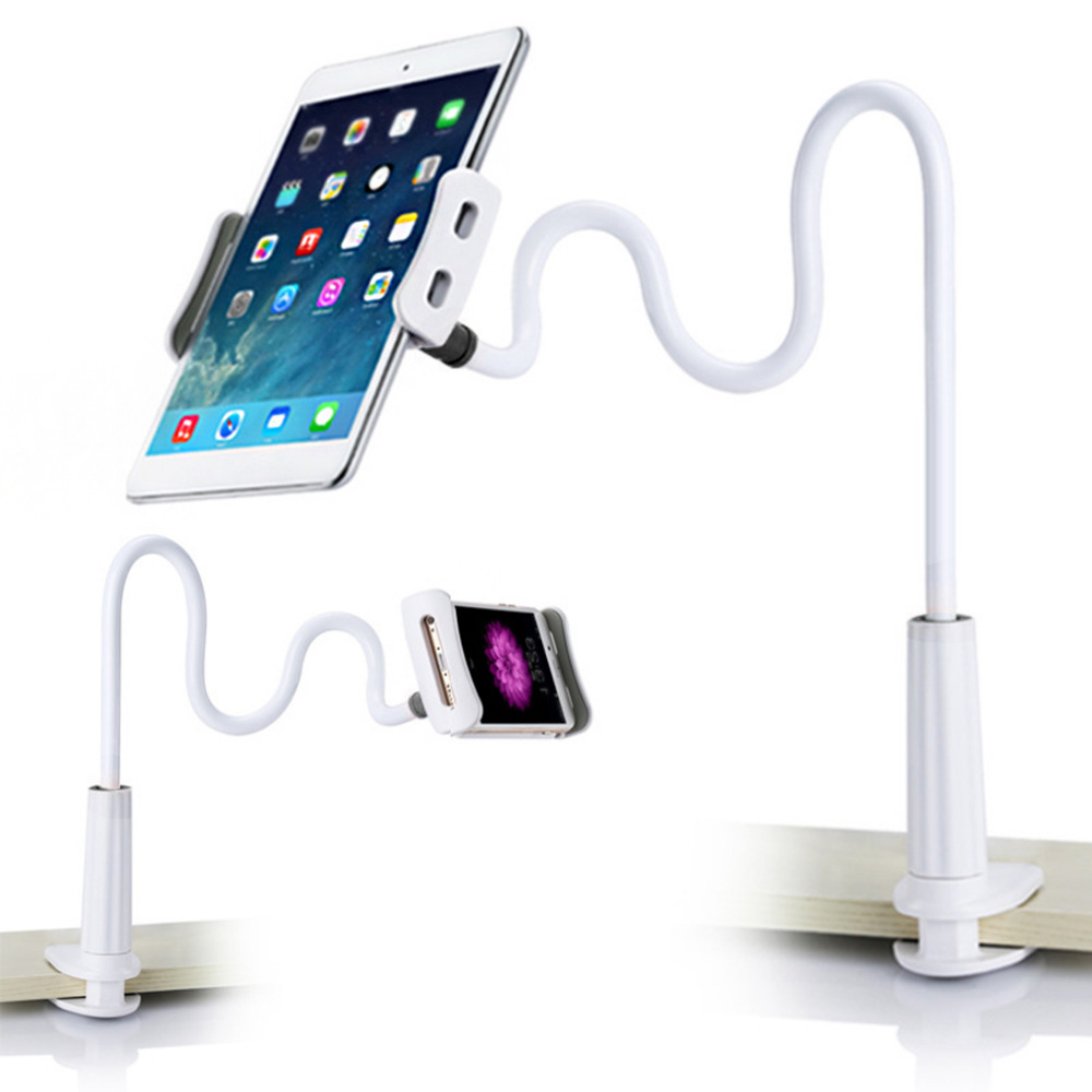 360 degree Flexible Arm table pad holder stand Bed Desktop tablet mount for  ipad support 4 to 10.5 inch tablet and phone