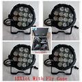12 Xlot + кейс 12 шт. 18 Вт rgbwa уф 6 в 1 led par свет этапа dmx ip65 led par 64 банок свет