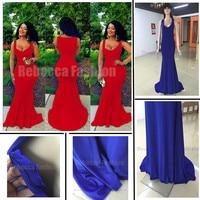 2016 New Arrival Dubai Europe Mermaid Dress Royal Blue Prom Long Dress Square Neck Floor Length