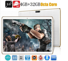 Tablet pc 9.6 pulgadas 3G 4G LTE Octa core bluetooth wifi GPS 1280*800 5.0MP 4 GB 32 GB Android 5.1 7 9 10 de la tableta de DHL Libre gratis