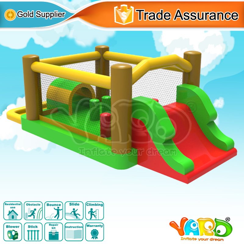 YARD Bounce House Inflatable Bouncer Obstacle Course Slide Ball Pit 5 In 1 With Blower yard outdoor game bounce house with inflatable slide ball pit home use kids jumper special offer for european countries