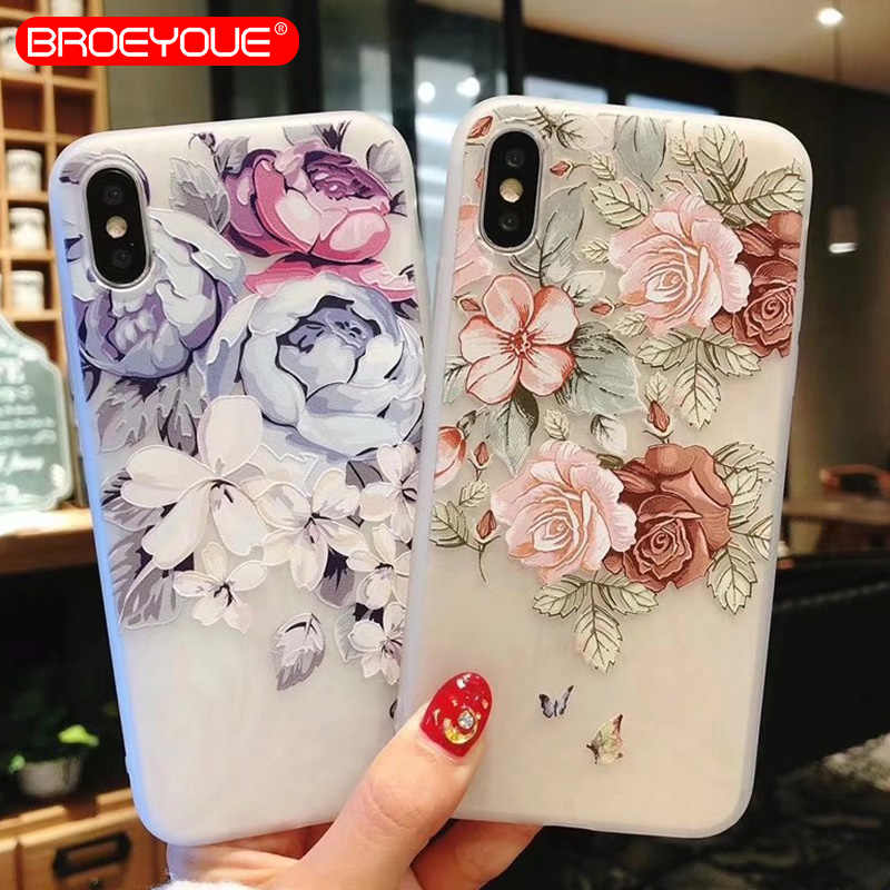 Case For Samsung Galaxy J3 J5 J7 A3 A5 A7 2017 2016 3D Relief Flower TPU Silicone Case For Samsung Galaxy A5 2017 Phone Cases