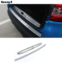 Threshold strip pedals styling covers Stainless steel Car door sill Scuff Plate pedal Cover for mazda cx7 cx-7 2008+ high quality door sill step scuff plate external threshold for kia sportage kx5 2016 2017 stainless steel car body cover pedal