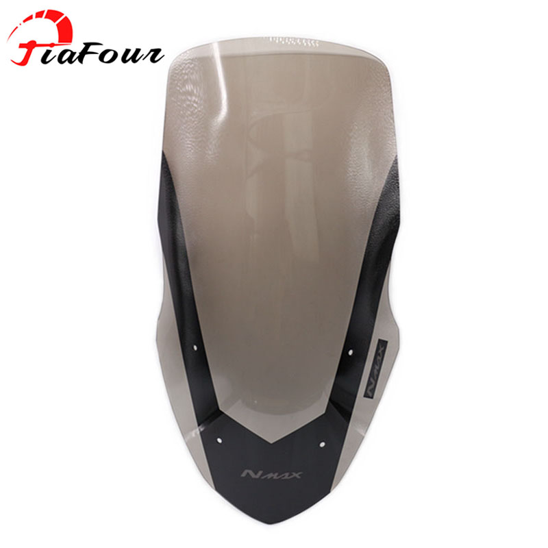 For YAMAHA NMAX 155 N-MAX 155 2016 2017 Scooter Modified Windshield scooter Steel solidification WindScreen Wind Deflector 49 45cm for 125cc 150cc motorcycle windscreen deflector wind deflector wind shield windscherm scooter free shipping