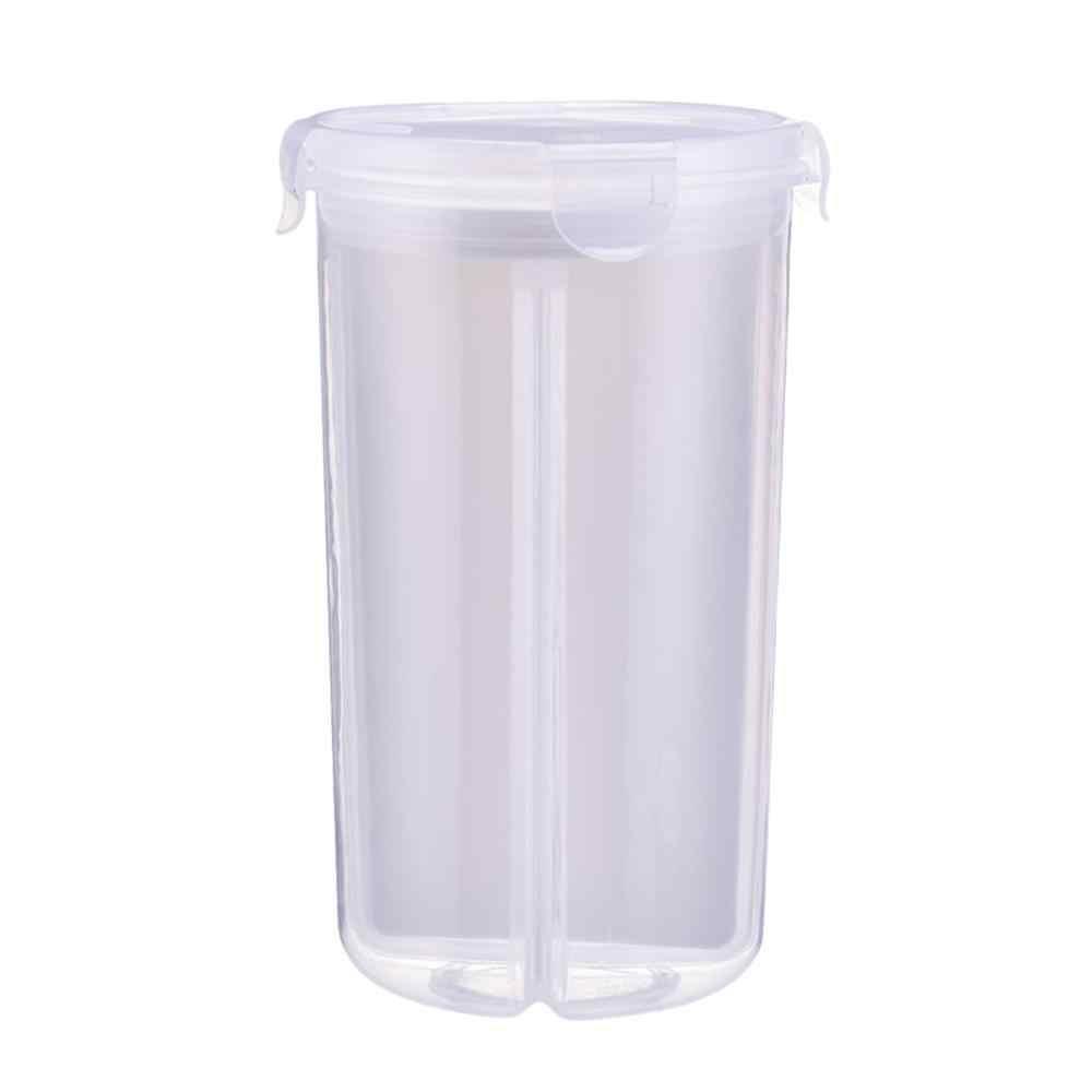 Caixa De Armazenamento De Alimentos Caixa De Armazenamento De Plástico transparente New Secado Seco Limpar Caixa de 2462 compartimento selado Recipiente De Cereais 5pz