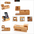 Christmas gift Genuine Bamboo Charging Dock Charger Station Desk Stand Holder for Apple Watch 38/42mm  and Plus with 3 USB Ports