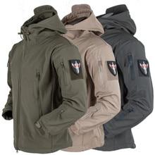 f361e782ead Military Tactical Shark Skin Soft Shell Jacket Men Waterproof Hiking Jackets  Pants Camping Camouflage Hooded Camo