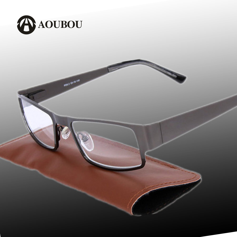 aoubou brand retro reading glasses men 20 25 anti fatigue stainless steel spring hinges frame