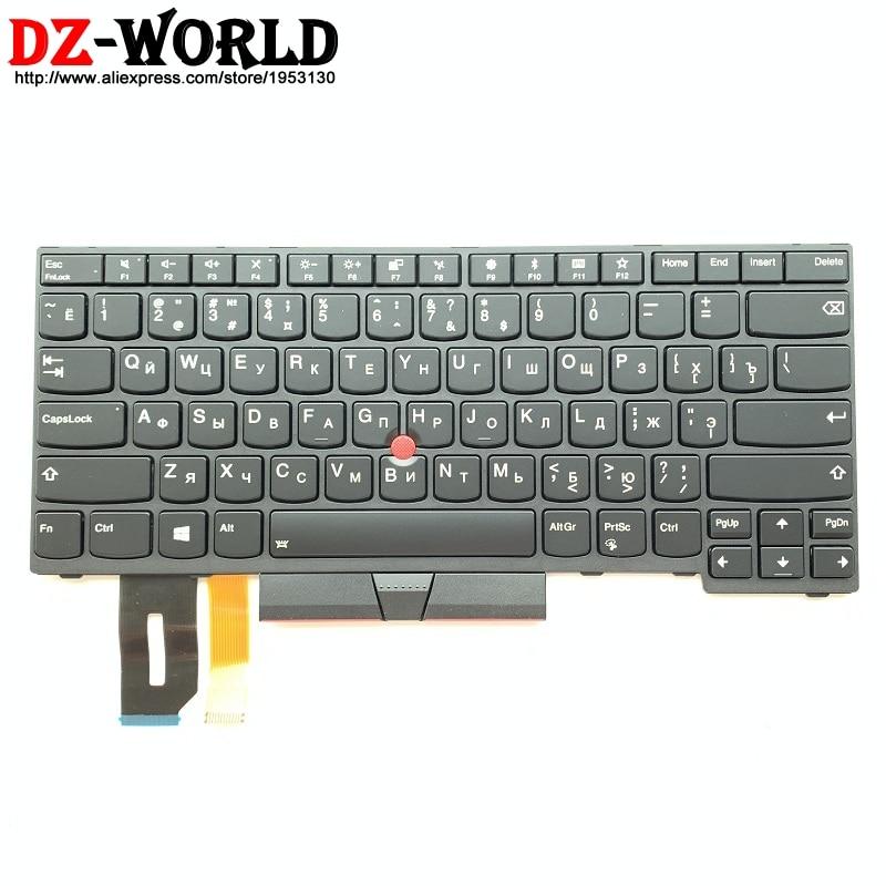 Novo original ru teclado retroiluminado russo para thinkpad e480 e490 t480 t480 t490 t495 l380 l390 yoga l490 p43s portátil teclado