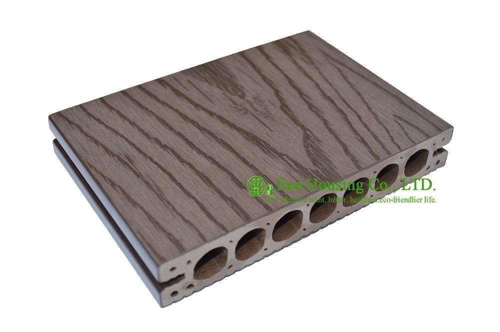WPC Platelage Avec Bois Grain Style, Imperméable À L'eau En Plein Air Pont manufactuer, WPC Platelage Planchers Prix, extérieur WPC platelage pour balcon