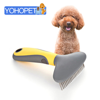 Pet Dog Coarse Teeth Rake Comb Opening Knot Comb Medium And Large Dogs Hair Brush Comb