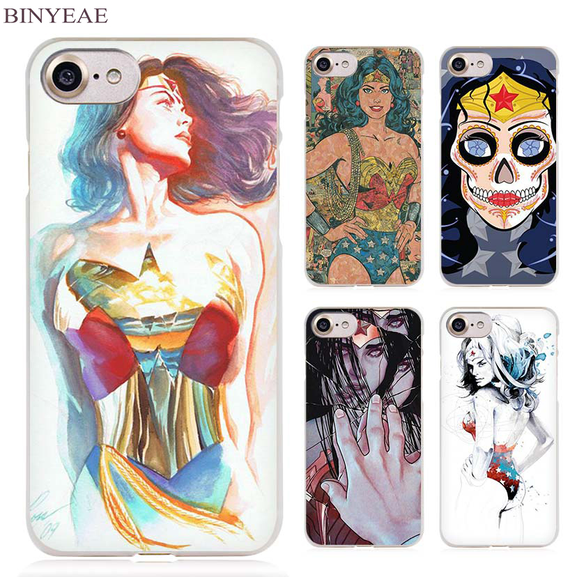 Binyeae Wonder Woman Hero Ясно сотовый телефон чехол для Apple IPhone 4 4S 5 5S SE 5C 6 6S 7 7 s плюс