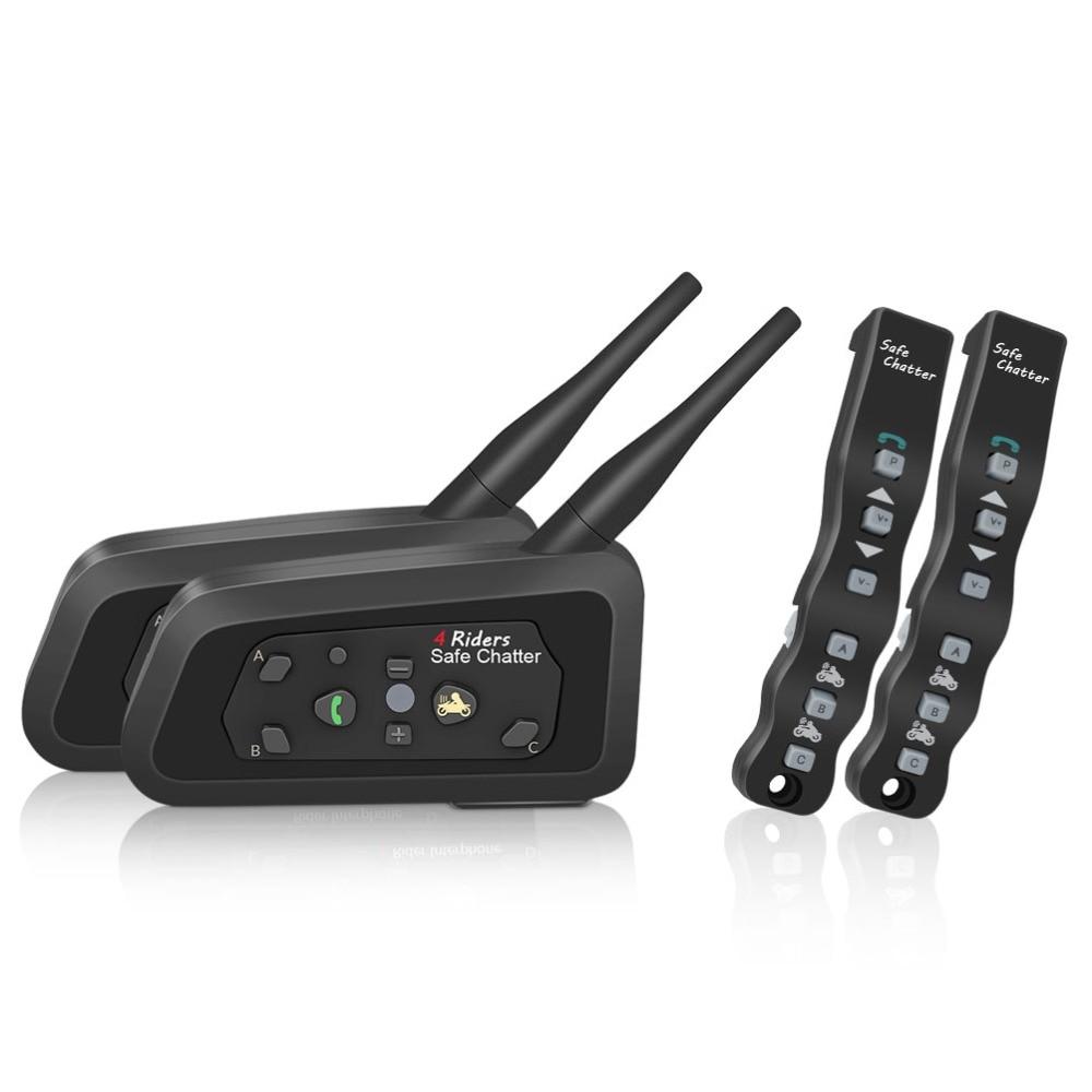 LEXIN 2 PZ A4 1000 M 4 Riders Moto BT Moto Bluetooth Interphone Headset Citofono Del Casco con Controllo Romote Intercomunicador