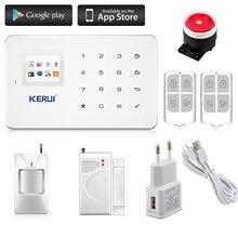 Kerui G18 Android iOS App управления беспроводной системы безопасности gsm сигнализация беспроводной магнитный датчик окна motion detector