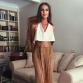 2017 Elegant V-neck Crop Top Summer Suede Women Tank Top Spaghetti Strap Casual Sexy Backless Hollow Lace Up Women Tops Vest