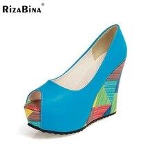 Бесплатная доставка высокий каблук клин женская обувь сексуальное платье модной обуви насосы P11037 EUR размер 34-40