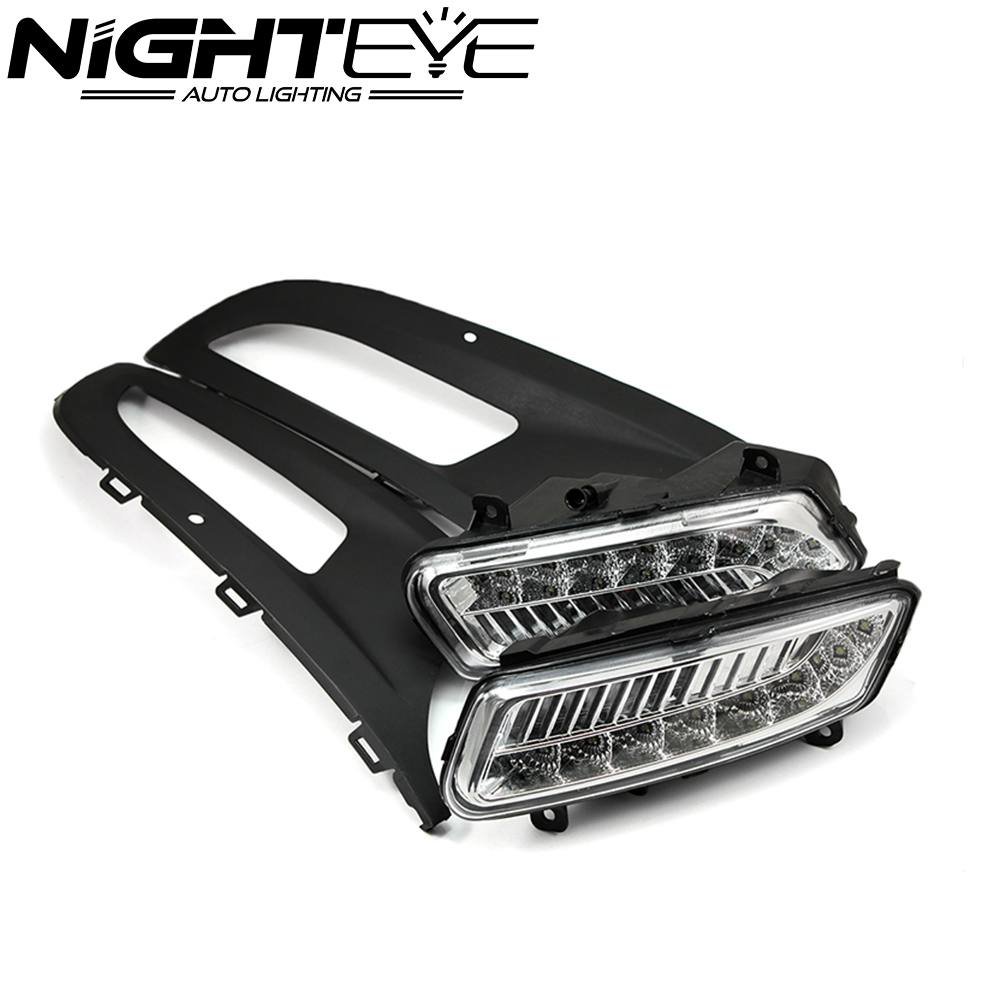 2x LED DRL Daytime Running Light Auto Car Led Daylight fog Lamp for VW POLO 2010 2011 2012 Free Shipping
