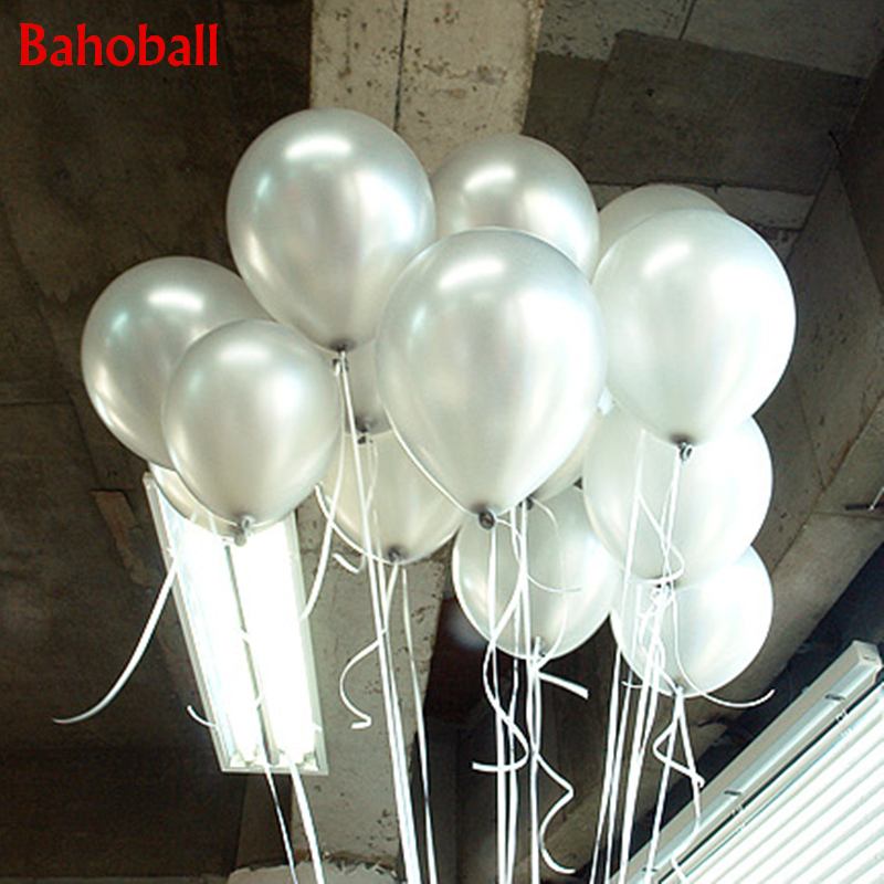 10PCS 10inch Silver Pearl Latex Balloon <font><b>22</b></font> Colors Inflatable Wedding Decorations Air Ball Happy <font><b>Birthday</b></font> Party Supplies Balloons image