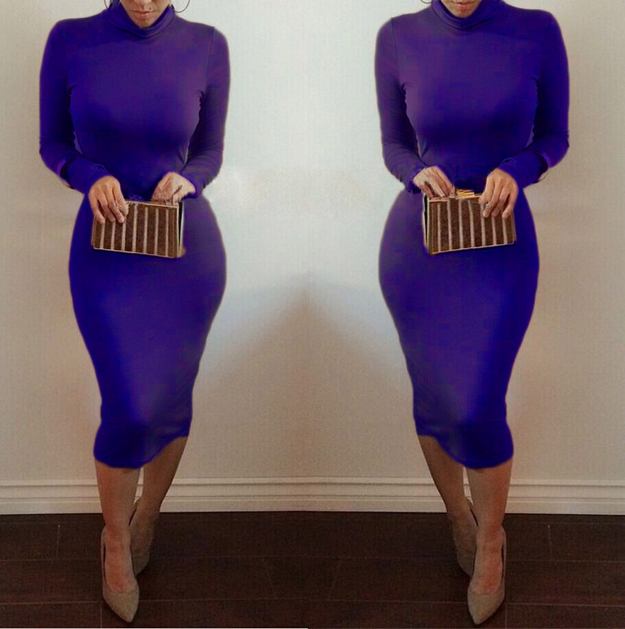 2017 New Design Women\'s Sexy Full Sleeve vestidos Pencil Bodycon ...