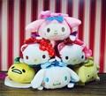 26 Styles Sanrio My Melody Gudetama Egg Hello Kitty Plush Toys TSUM TSUM Sakura KT Open Eyes Bebe Bonecas Kids Gifts Keychains