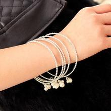 Elegant simulated pearl bracelets for women bijoux gold Color fashion jewelry female gift